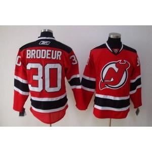 NHL Devils 30 Martin Brodeur Red Men Jersey