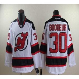 NHL Devils 30 Martin Brodeur White Men Jersey