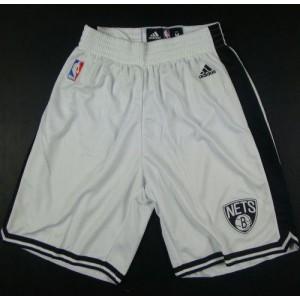 Brooklyn Nets White NBA Shorts