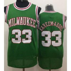 NBA Bucks 33 Kareem Abdul-Jabbar Green Throwback Men Jersey