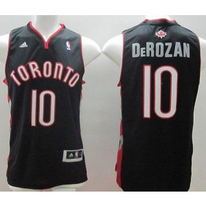 NBA Raptors 10 DeMar DeRozan Black Revolution 30 Men Jersey