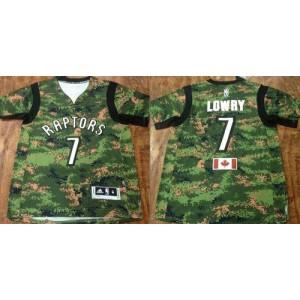 NBA Raptors 7 Kyle Lowry Camo Pride Men Jersey