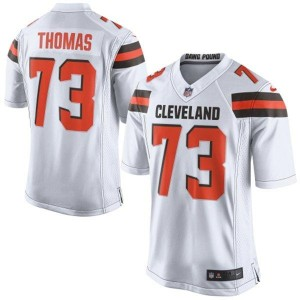 Nike Browns 73 Joe Thomas White Men Stitched NFL New Elite Jersey