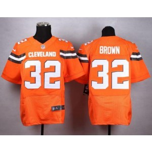 Nike Browns 32 Jim Brown Orange Alternate Men Stitched NFL New Elite Jersey
