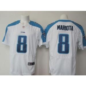 2015 Draft Nike Titans 8 Marcus Mariota White Men Stitched NFL Elite Jersey