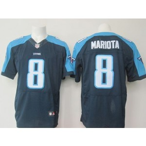 2015 Draft Nike Titans 8 Marcus Mariota Navy Blue Alternate Men Stitched NFL Elite Jersey