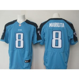 2015 Draft Nike Titans 8 Marcus Mariota Light Blue Team Color Men Stitched NFL Elite Jersey