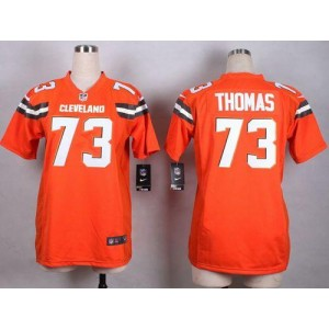 Nike Browns 73 Joe Thomas Orange Alternate Women Stitched NFL New Elite Jersey