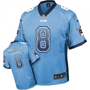 2015 Draft Nike Titans 8 Marcus Mariota Light Blue Team Color Men Stitched NFL Elite Drift Fashion Jersey