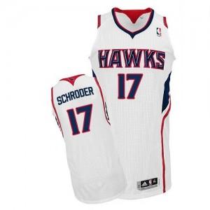 NBA Hawks 17 Dennis Schroder White Revolution 30 Men Jersey