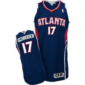 NBA Hawks 17 Dennis Schroder Blue Revolution 30 Men Jersey