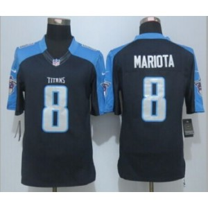 2015 Draft Nike Titans 8 Marcus Mariota Navy Blue Alternate Men Stitched NFL Limited Jersey