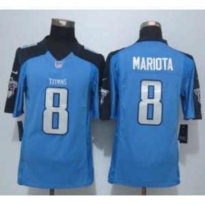 2015 Draft Nike Titans 8 Marcus Mariota Light Blue Men Stitched NFL Limited Jersey