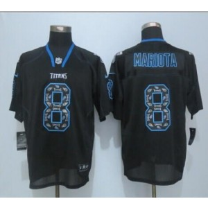 2015 Draft Nike Titans 8 Marcus Mariota New Lights Out Black Men Stitched NFL Elite Jersey