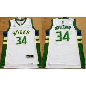 NBA Bucks 34 Giannis Antetokounmpo White Revolution 30 Men Jersey
