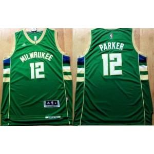 NBA Bucks 12 Jabari Parker Green Revolution 30 Men Jersey