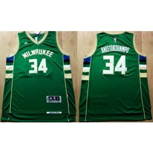 NBA Bucks 34 Giannis Antetokounmpo Green Revolution 30 Men Jersey
