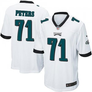 Nike Eagles 71 Jason Peters White Youth Stitched NFL New Elite Jersey