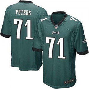 Nike Eagles 71 Jason Peters Midnight Green Team Color Youth Stitched NFL New Elite Jersey