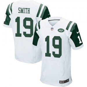 Nike Jets 19 Devin Smith White Men's Stitched NFL Elite Jersey