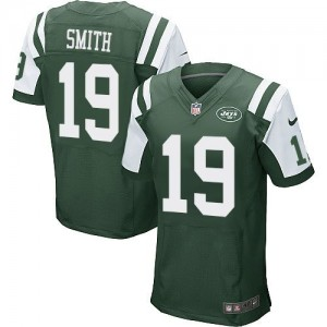 Nike Jets 19 Devin Smith Green Team Color Men's Stitched NFL Elite Jersey