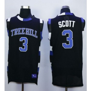 One Tree Hill Ravens 3 Lucas Scott Black Stitched Basketball Jersey