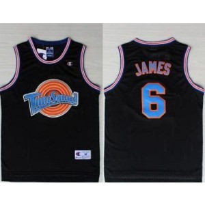 Space Jam Tune Squad 6 James Black Stitched Basketball Jersey