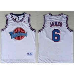 Space Jam Tune Squad 6 James White Stitched Basketball Jersey