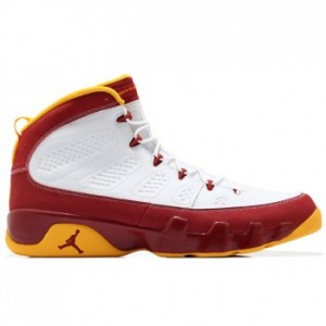 Air Jordan 9 Bentley Ellis White Dark Cayenne-University Gold A09008