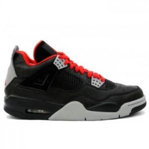 Air jordan IV 4 Laser Retro Mens Basketball Shoes Black Red A04010