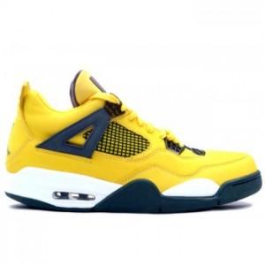 Air jordan IV 4 Retro Mens Basketball Shoes Tour Yellow Grey A04012