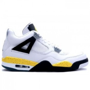 Air jordan IV 4 Retro Mens Basketball Shoes White Tour Yellow A04011