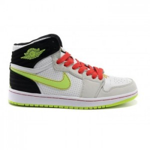 Air jordan Retro 1 '93 White Electric Green-Black-Neutral Grey-Gym Red
