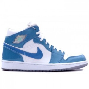 Air jordan Retro 1 White Carolina Blue Patent Leather White University Blue A01007