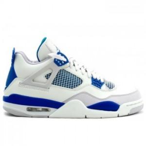 Air jordan Retro 4 (IV) 2012 Military Blue White Neutral Grey A04007(Women Men Gs Girls)