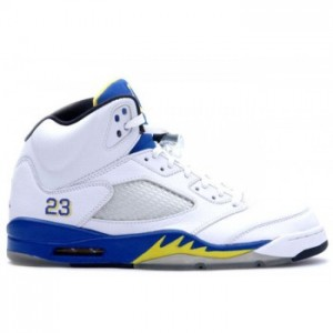 Air jordan Retro 5 (V) Laney White Varsity Royal Varsity Maize A05007