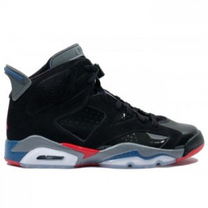 Air jordan Retro 6 Pistons Black Red Blue A06007