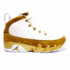 Air jordan Retro 9 Premio Bin 23 White Metallic Gold A09011