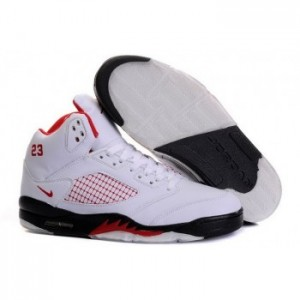 Air jordan V 5 Retro white black red A05015