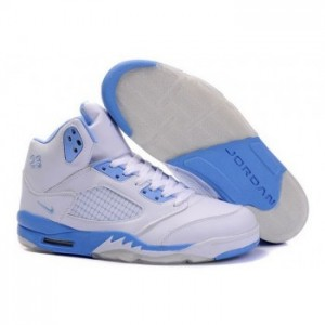 Air jordan V 5 Retro white blue A05016