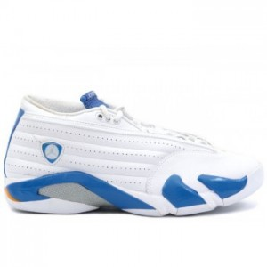 Air jordan XIV 14 Retro Mens Basketball Shoes Low White Pacific Blue A14005
