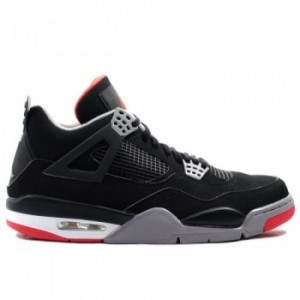 Air Retro Jordan Bred 4s CDP 2012 Black Cement Grey Fire Red