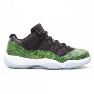Air jordan 11 Retro Low Black Night Shade-White-Volt Ice