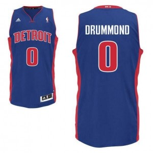 NBA Pistons 0 Andre Drummond Road Blue Men Jersey