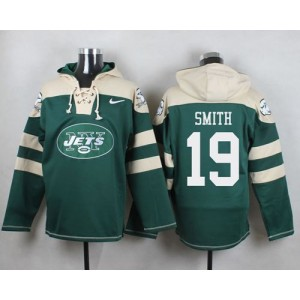 Nike Jets 19 Devin Smith Green Player Pullover NFL Sweatshirt Hoodie