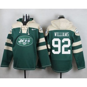 Nike Jets 92 Leonard Williams Green Player Pullover NFL Sweatshirt Hoodie