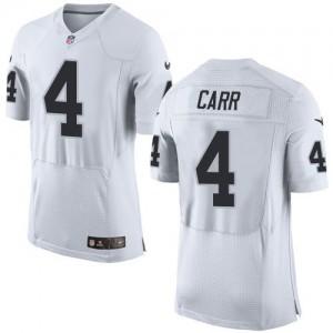 Nike Raiders 4 Derek Carr White Men Stitched NFL New Elite Jersey