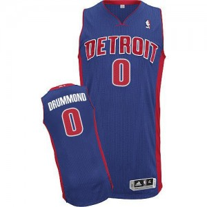 NBA Pistons 0 Andre Drummond Blue Men Jersey