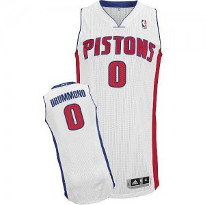 NBA Pistons 0 Andre Drummond White Men Jersey