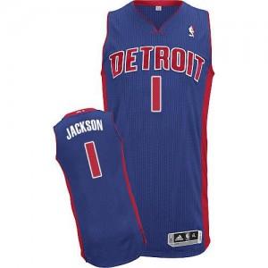 NBA Pistons 1 Reggie Jackson Blue Men Jersey